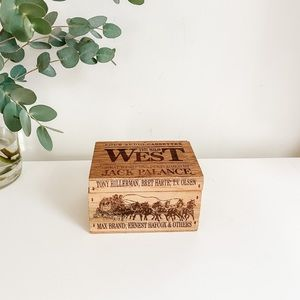 Vintage western box with lid